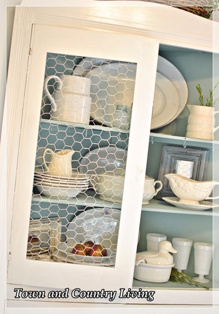 Country Kitchen Cabinets With Chicken Wire