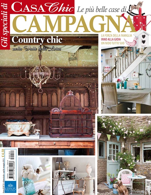 My experience being published in an italian decor magazine for Casa country chic