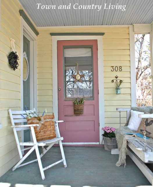 Farmhouse Porch Anxious Spring Town Country