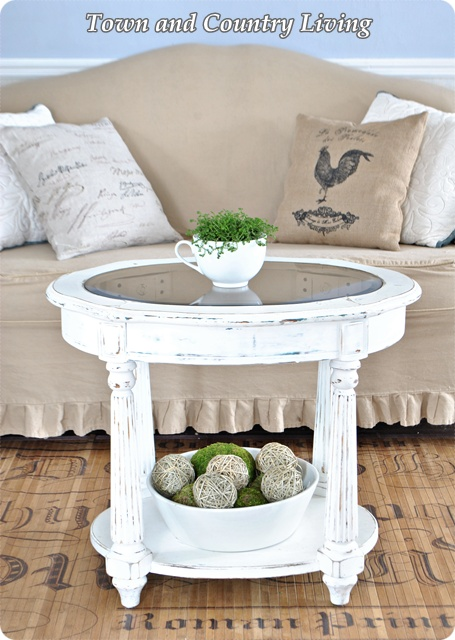 White Shabby Coffee Table
