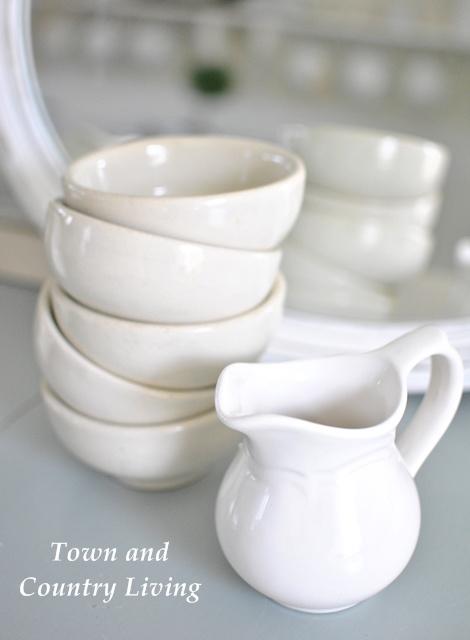 White Ironstone Bowls