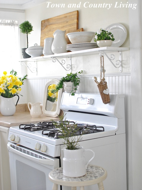 Open Shelving In Our Farmhouse Kitchen Town Amp Country Living