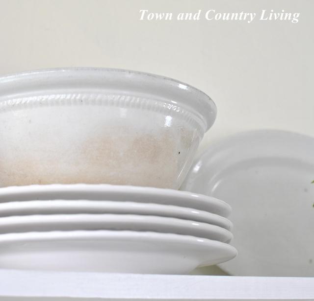 White ironstone bowl