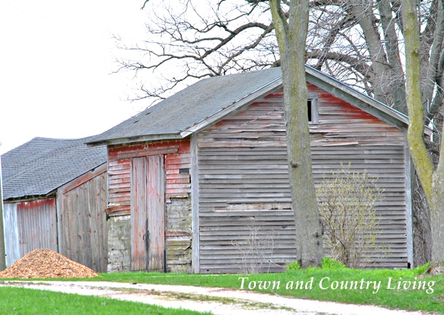 Red country outbuilding
