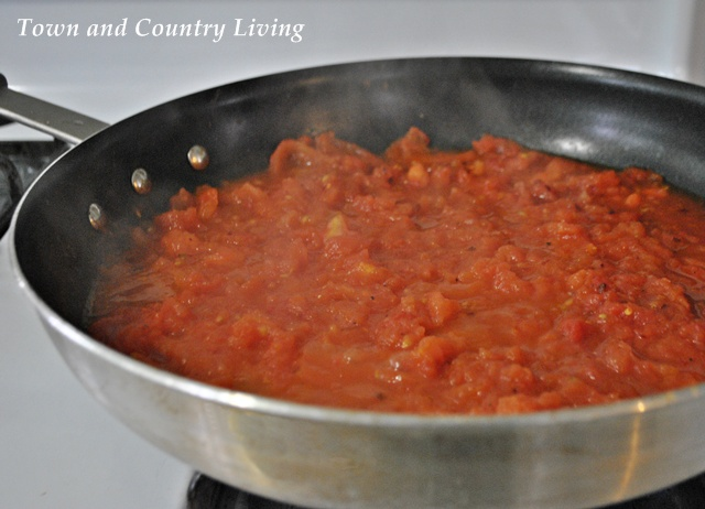 Roma Tomatoes cooking for spaghetti sauce