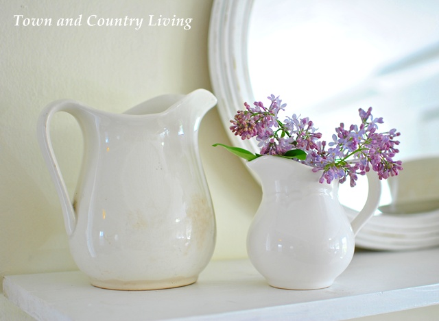 Lilacs in ironstone pitcher
