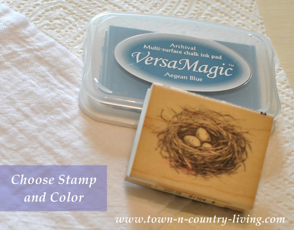 Rubber Stamp and Stamping Paint