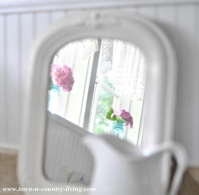 Reflection of Farmhouse Kitchen Window