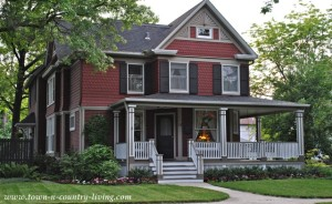 Red Historic Home in Naperville, Illinois