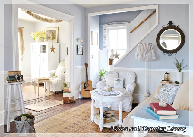 Country farmhouse style at Town and Country Living