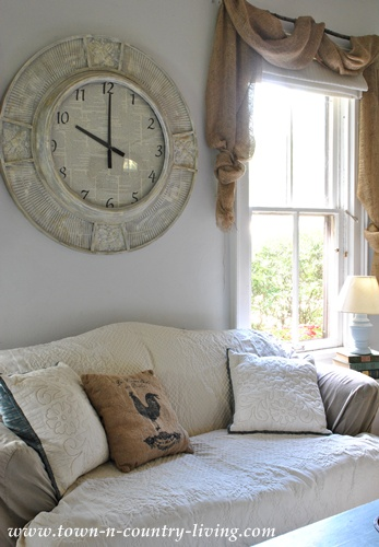 Clock In Family Room At Town And Country Living