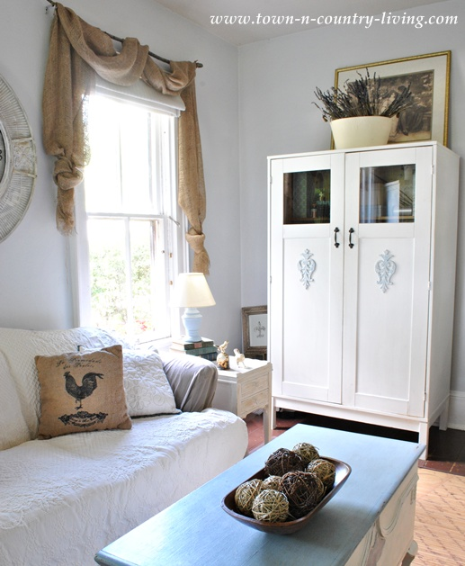 IKEA cabinet painted Pure White using Annie Sloan Chalk Paint - Town and Country Living blog