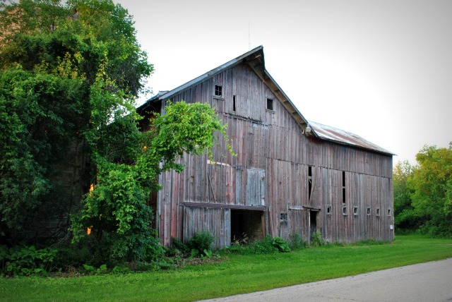 Rustic Barn via Town and Country Living
