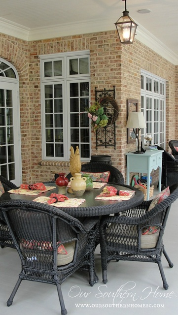 Our Southern Home Screened Porch