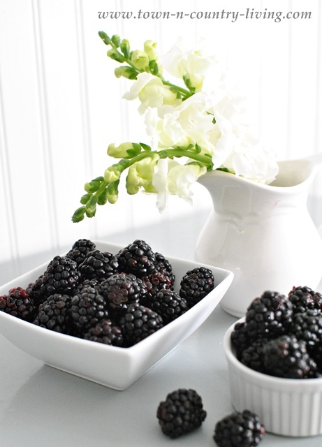 Superfood Blackberry Recipe via Town and Country Living