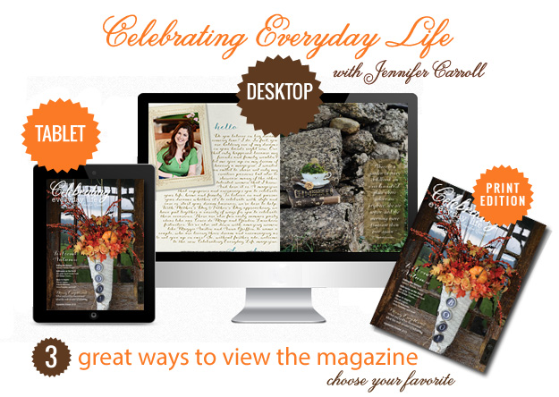 Fall issue of Celebrating Everyday Life magazine via Town and Country Living