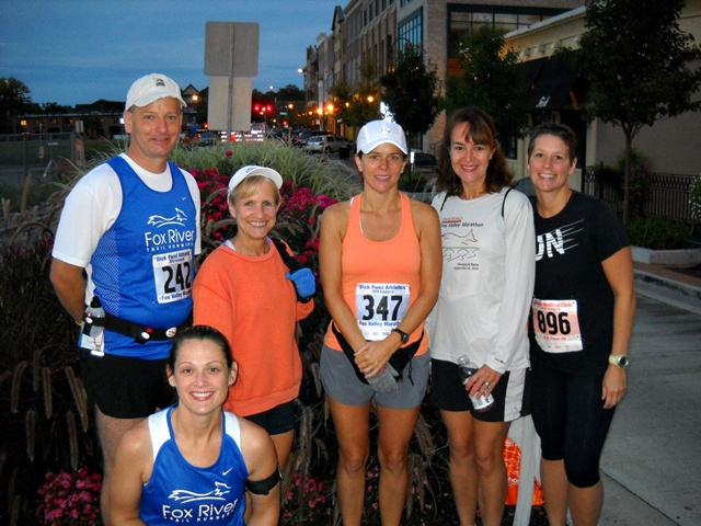 The morning of the Fox Valley marathon in St. Charles, Illinois