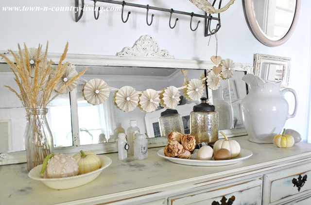 Paper Fan Garland Tutorial by Town and Country Living