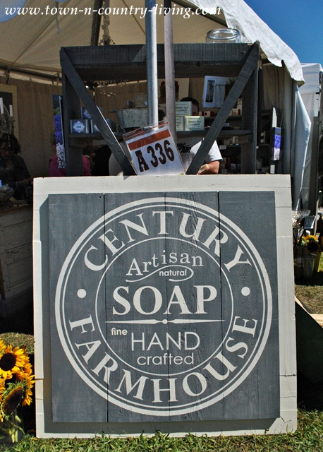Century Artisan Soap sign at Country Living Fair