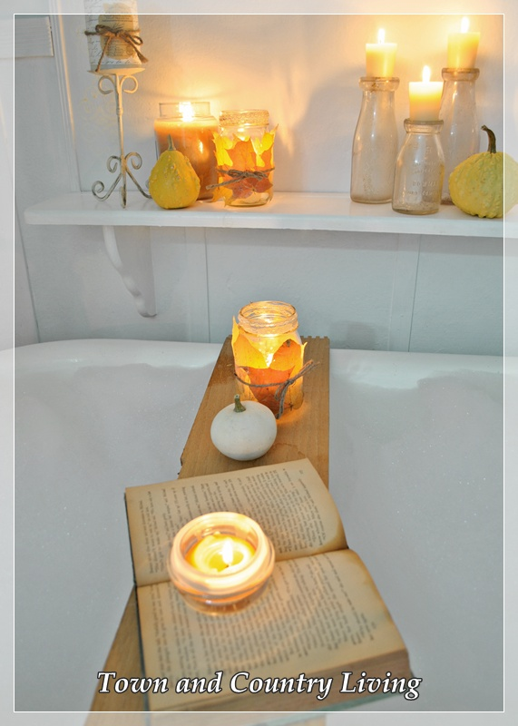 Candlelit Bubble Bath via Town and Country Living