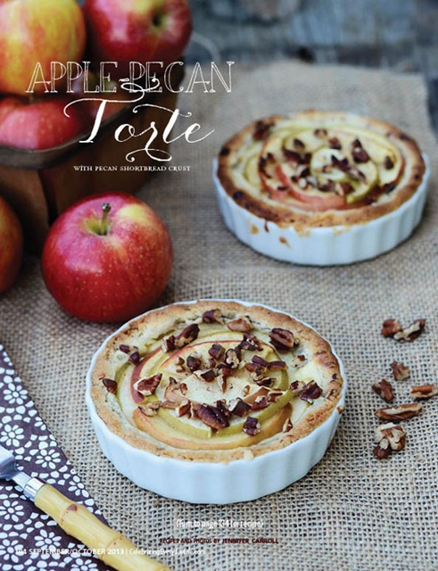 Apple Pecan Torte from Celebrating Everyday Life magazine via Town and Country Living