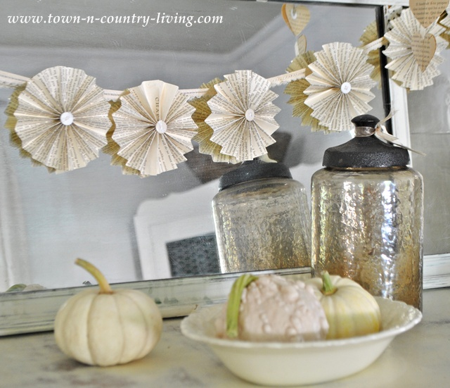 Paper fan garland tutorial via Town and Country Living