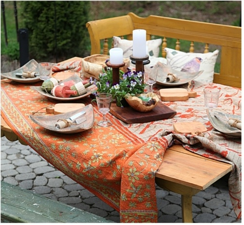 Fall Tablescape by a Button Tufted Life