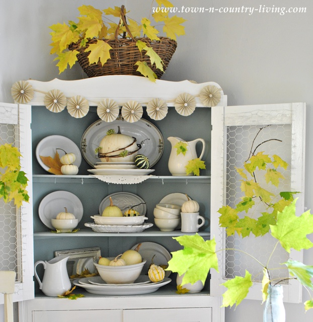 Farmhouse Fall Hutch at Town and Country Living
