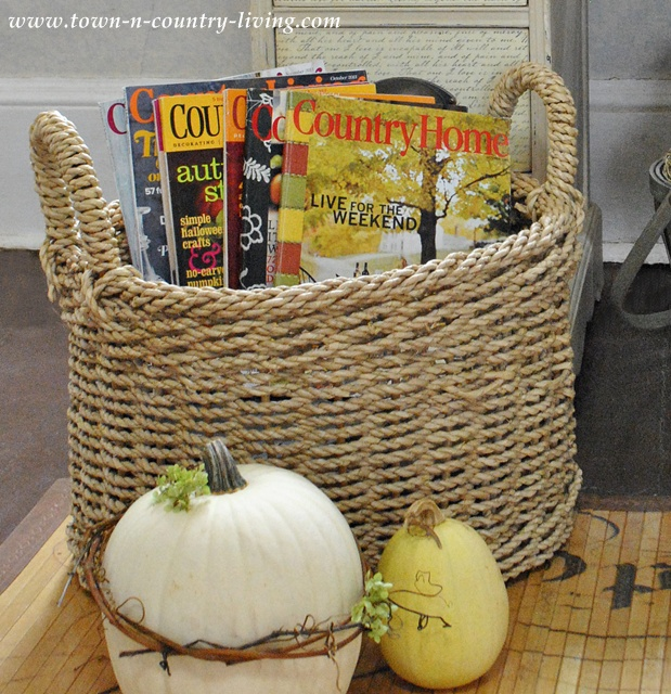 Vintage basket via Town and Country Living