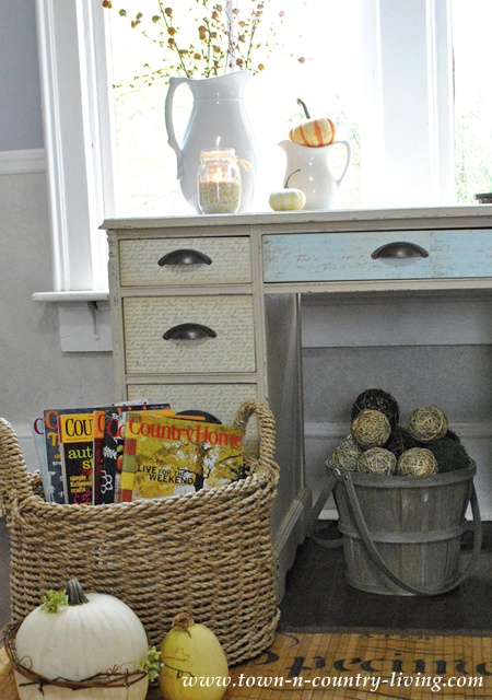 Decorating with vintage finds at Town and Country Living