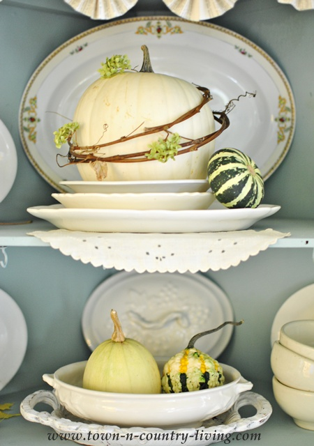 Farmhouse Fall Hutch via Town and Country Living