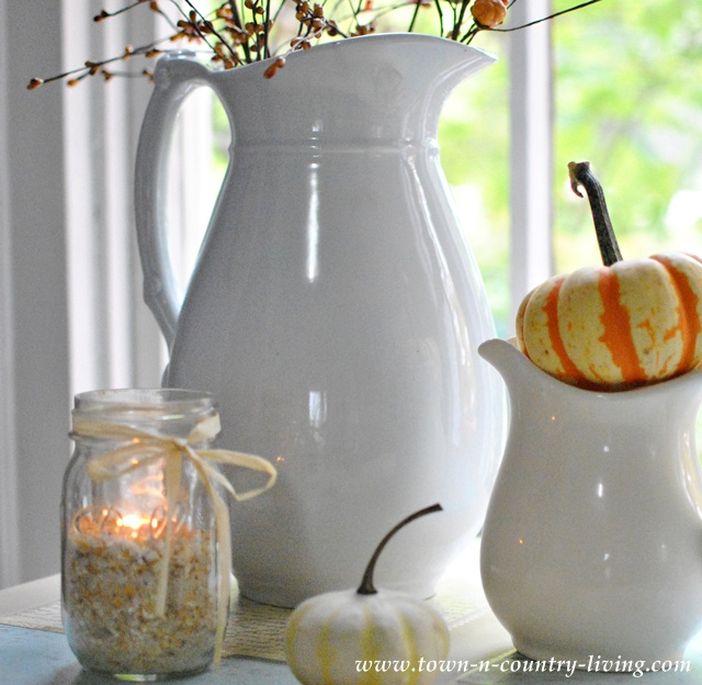 John Maddock ironstone pitcher via Town and Country Living