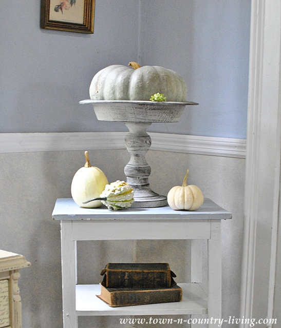 Pumpkin Vignette via Town and Country Living