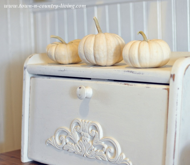 Baby Boos on a Breadbox via Town and Country Living