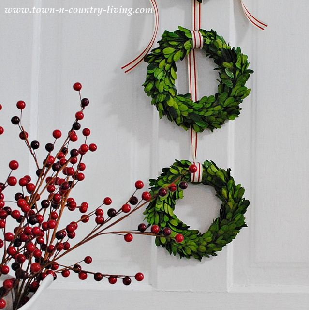 DIY Christmas Decor - Trio of Boxwood Wreaths