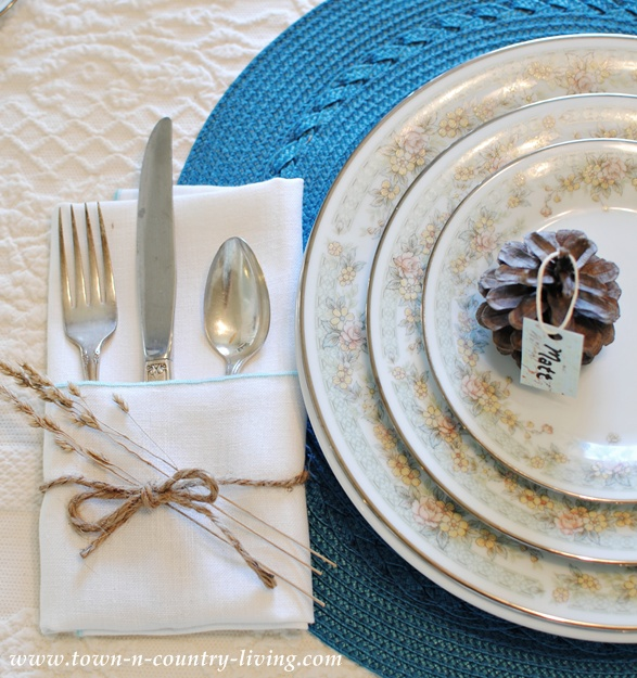 Noritake China and Vintage Silverware via Town and Country Living