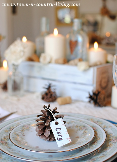 Cozy Thanksgiving Table via Town and Country Living