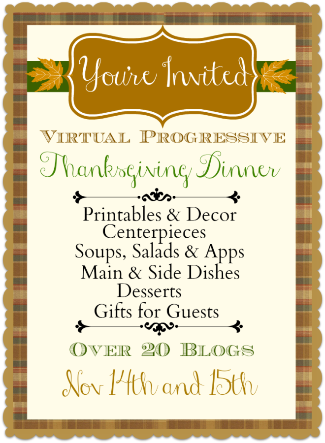 Thanksgiving Progressive Dinner via Town and Country Living