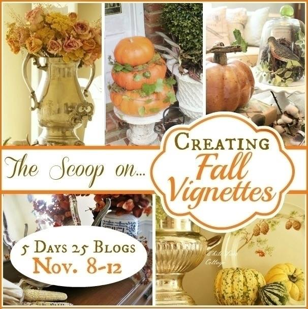 DIY Fall Vignette via Town and Country Living