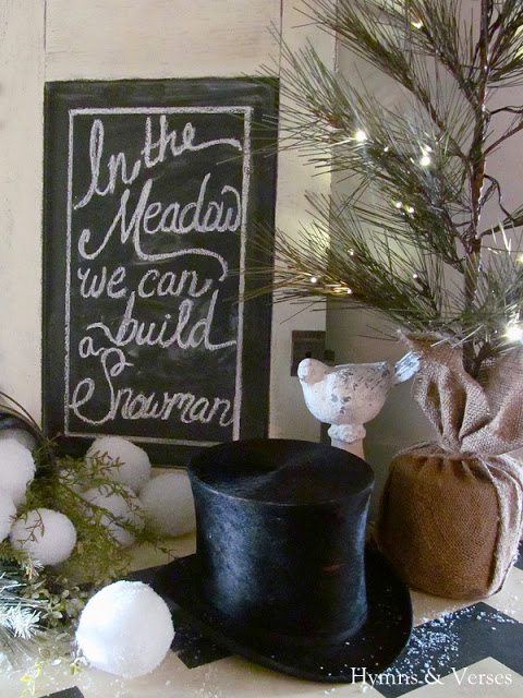 Christmas Vignette by Hymns and Verses