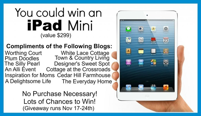 iPad Mini Giveaway via Town and Country Living