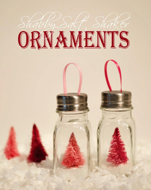 Shabby Christmas Ornaments by It All Started with Paint