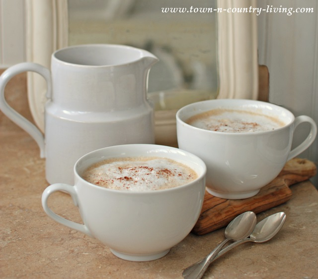 How to make cappuccino by Town and Country Living