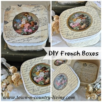 DIY French Boxes by Town and Country Living
