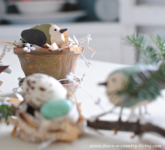 DIY Bird and Nest Vignette