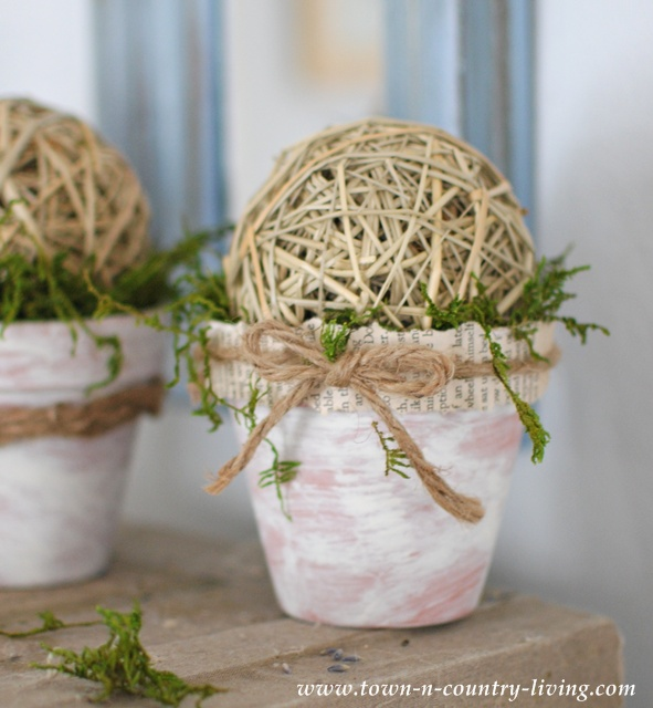 How to Make Decorative Mossy Pots