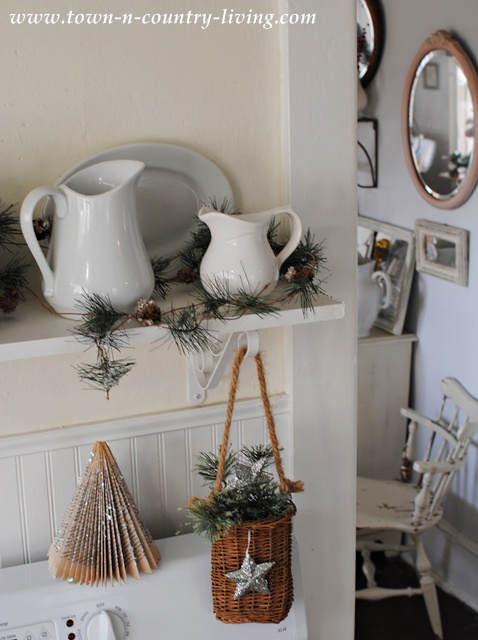 White Ironstone at Christmas via Town and Country Living