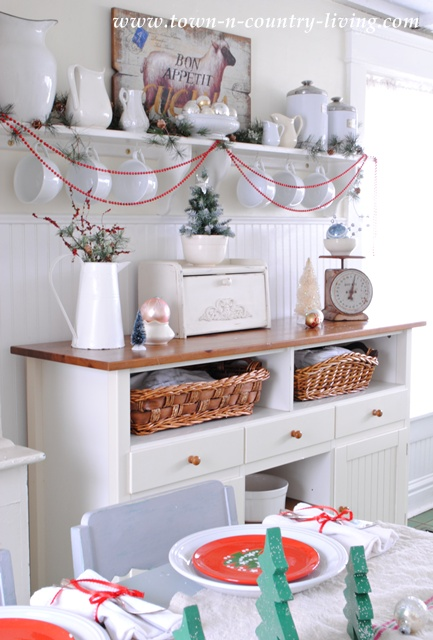 Farmhouse Christmas Kitchen at Town and Country Living