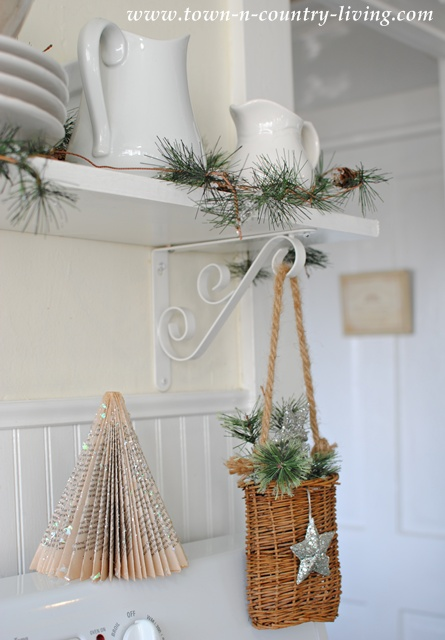Christmas greens dress up white ironstone