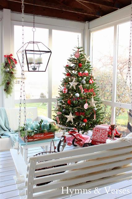 Christmas Porch at Hymns and Verses